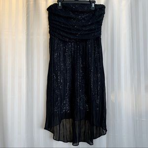 EUC🌻Express Strapless High-Low Party Dress